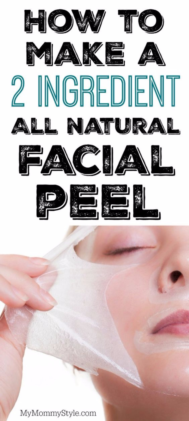DIY Beauty Hacks - Make A 2 Ingredient All Natural Facial Peel - Cool Tips for Makeup, Hair and Nails - Step by Step Tutorials for Fixing Broken Makeup, Eye Shadow, Mascara, Foundation - Quick Beauty Ideas for Best Looks in A Hurry #beautyhacks #makeup