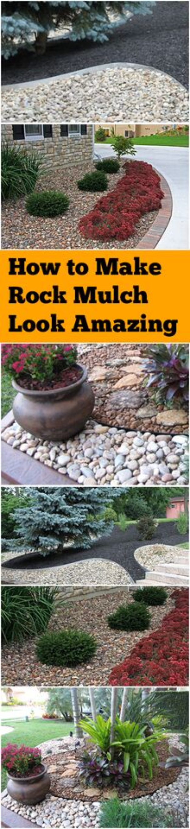 DIY Landscaping Hacks - Make Rock Mulch Look Amazing - Easy Ways to Make Your Yard and Home Look Awesome in Fall, Winter, Spring and Fall. Backyard Projects for Beginning Gardeners and Lawns - Tutorials and Step by Step Instructions