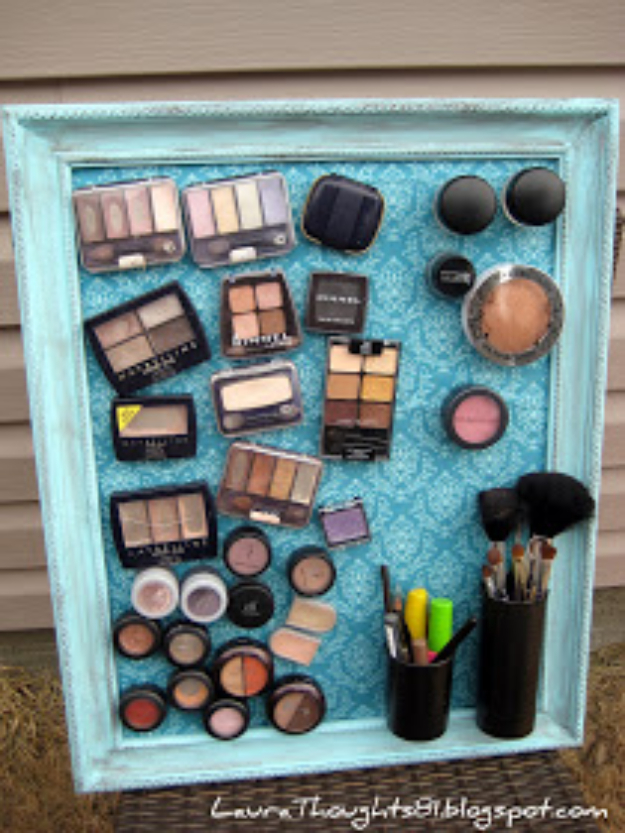 Best DIY Gifts for Girls - Make Up Magnet Board - Cute Crafts and DIY Projects that Make Cool DYI Gift Ideas for Young and Older Girls, Teens and Teenagers - Awesome Room and Home Decor for Bedroom, Fashion, Jewelry and Hair Accessories - Cheap Craft Projects To Make For a Girl -DIY Christmas Presents for Tweens #diygifts #girlsgifts