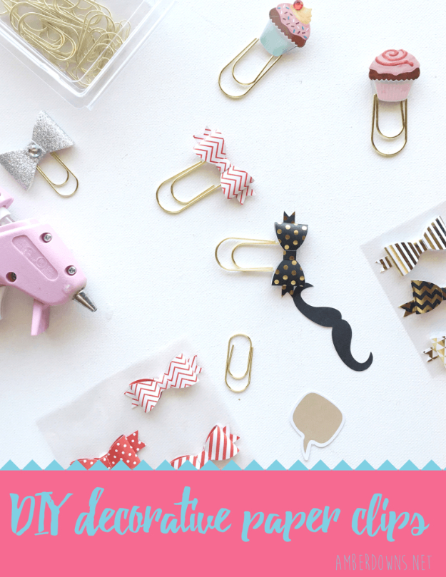 DIY Crafting Hacks - Make Your Own Decorative Clips - Easy Crafting Ideas for Quick DIY Projects - Awesome Creative, Crafty Ways for Dollar Store, Organizing, Yarn, Scissors and Pom Poms