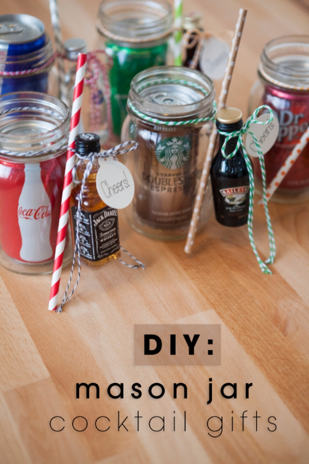 Best DIY Gifts in Mason Jars - Mason Jar Cocktail Gifts - Cute Mason Jar Crafts and Recipe Ideas that Make Great DIY Christmas Presents for Friends and Family - Gifts for Her, Him, Mom and Dad - Gifts in A Jar #diygifts #christmas