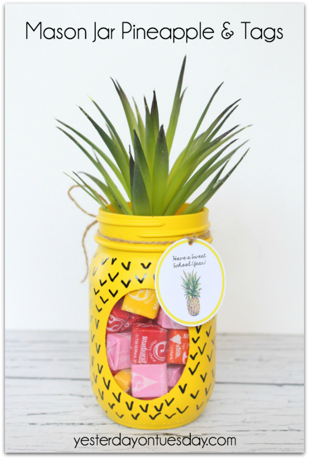 Best DIY Gifts in Mason Jars - Mason Jar Pineapple - Cute Mason Jar Crafts and Recipe Ideas that Make Great DIY Christmas Presents for Friends and Family - Gifts for Her, Him, Mom and Dad - Gifts in A Jar #diygifts #christmas
