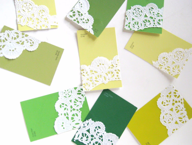 DIY Projects Made With Paint Chips - Paint Chip Business Cards - Best Creative Crafts, Easy DYI Projects You Can Make With Paint Chips - Cool Paint Chip Crafts and Project Tutorials - Crafty DIY Home Decor Ideas That Make Awesome DIY Gifts and Christmas Presents for Friends and Family #diy #crafts #paintchip #cheapcrafts