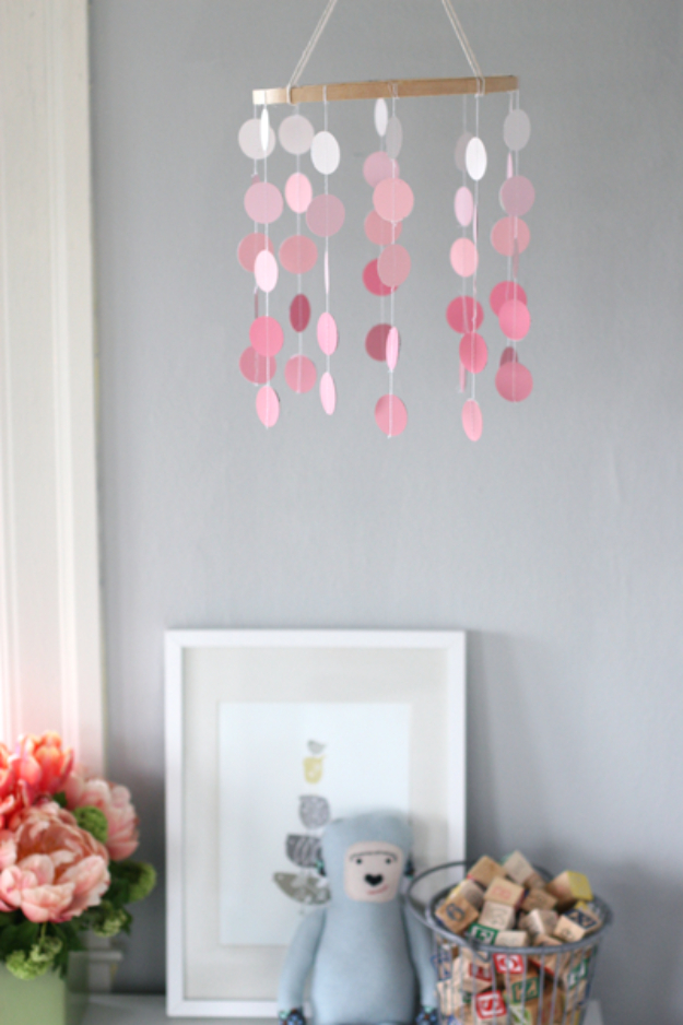 DIY Projects Made With Paint Chips - Paint Chip Mobile - Best Creative Crafts, Easy DYI Projects You Can Make With Paint Chips - Cool Paint Chip Crafts and Project Tutorials - Crafty DIY Home Decor Ideas That Make Awesome DIY Gifts and Christmas Presents for Friends and Family #diy #crafts #paintchip #cheapcrafts