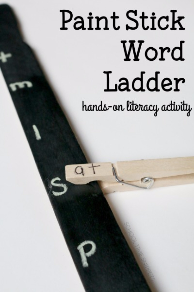 DIY Projects Made With Paint Sticks   Paint Stick Word Ladder   Best  Creative Crafts,