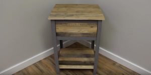 He Makes An Industrial Nightstand Out of Pallet Wood — So Awesome!