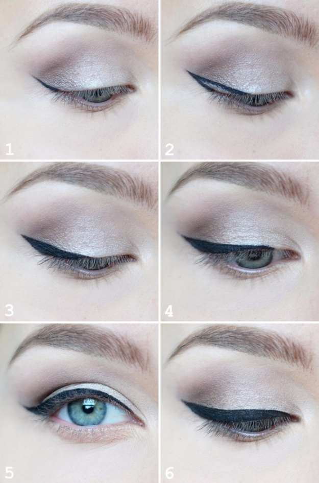 DIY Beauty Hacks - Perfect Cat's Eye Everytime - Cool Tips for Makeup, Hair and Nails - Step by Step Tutorials for Fixing Broken Makeup, Eye Shadow, Mascara, Foundation - Quick Beauty Ideas for Best Looks in A Hurry #beautyhacks #makeup