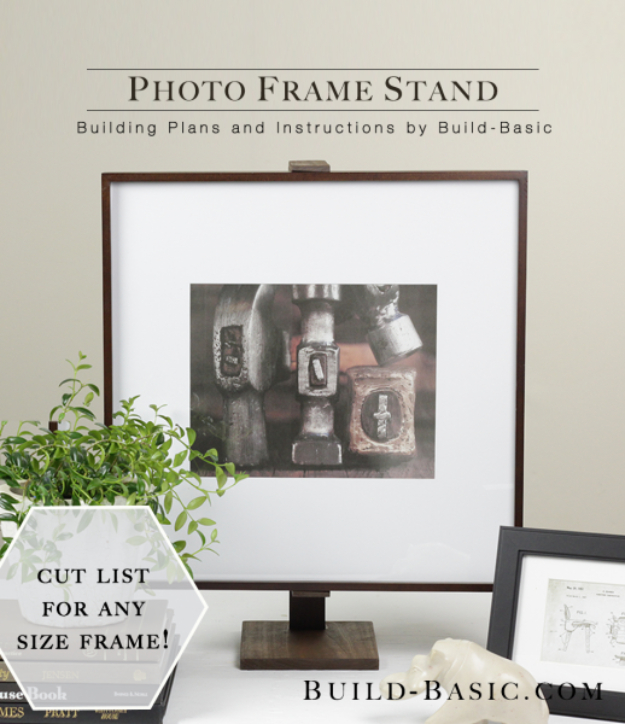 DIY Gifts for Dad - Photo Frame Stand - Best Craft Projects and Gift Ideas You Can Make for Your Father - Last Minute Presents for Birthday and Christmas - Creative Photo Projects, Gift Card Holders, Gift Baskets and Thoughtful Things to Give Fathers and Dads #diygifts #dad #dadgifts #fathersday