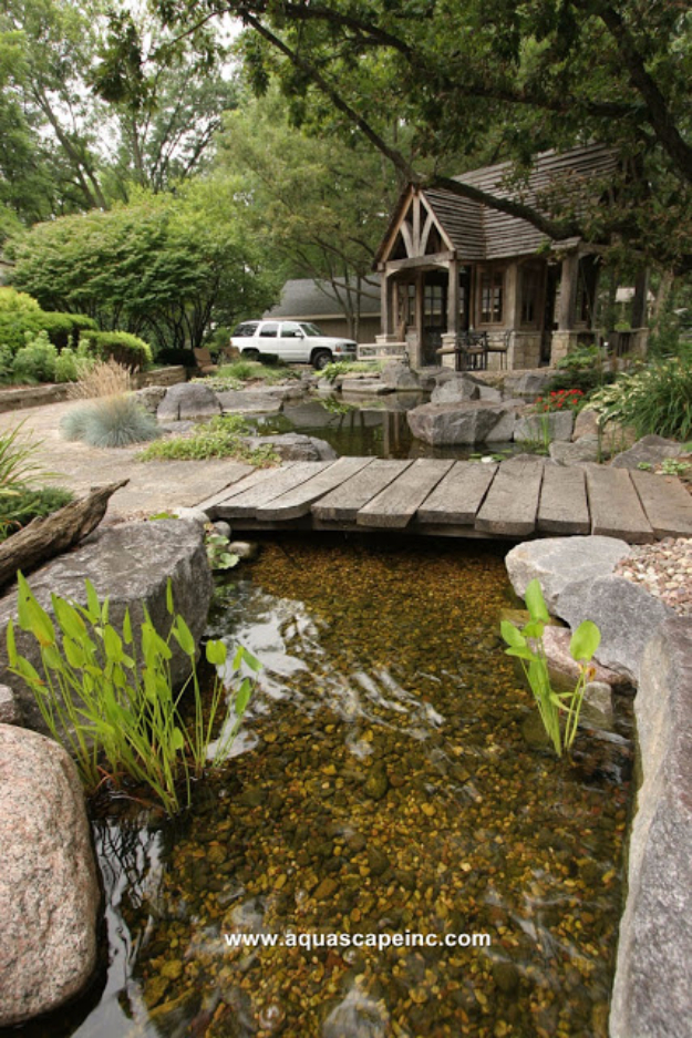 DIY Landscaping Hacks - Pond Paradise In The Backyard - Easy Ways to Make Your Yard and Home Look Awesome in Fall, Winter, Spring and Fall. Backyard Projects for Beginning Gardeners and Lawns - Tutorials and Step by Step Instructions