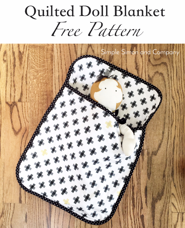 Best Quilting Projects for DIY Gifts - Quilted Doll Blanket - Things You Can Quilt and Sew for Friends, Family and Christmas Gift Ideas - Easy and Quick Quilting Patterns for Presents To Give At Holidays, Birthdays and Baby Gifts. Step by Step Tutorials and Instructions