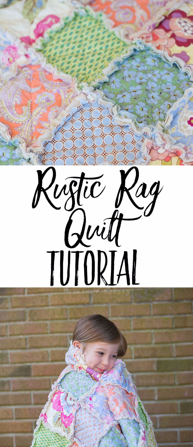 Best Quilting Projects for DIY Gifts - Rustic Rag Quilt Tutorial - Things You Can Quilt and Sew for Friends, Family and Christmas Gift Ideas - Easy and Quick Quilting Patterns for Presents To Give At Holidays, Birthdays and Baby Gifts. Step by Step Tutorials and Instructions