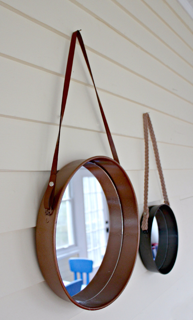 DIY Mirrors - Sailor's Mirror Anthro Knock Off - Best Do It Yourself Mirror Projects and Cool Crafts Using Mirrors - Home Decor, Bedroom Decor and Bath Ideas - Step By Step Tutorials With Instructions
