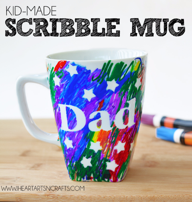 DIY Gifts for Dad - Sharpie Mug For Dad - Best Craft Projects and Gift Ideas You Can Make for Your Father - Last Minute Presents for Birthday and Christmas - Creative Photo Projects, Gift Card Holders, Gift Baskets and Thoughtful Things to Give Fathers and Dads #diygifts #dad #dadgifts #fathersday