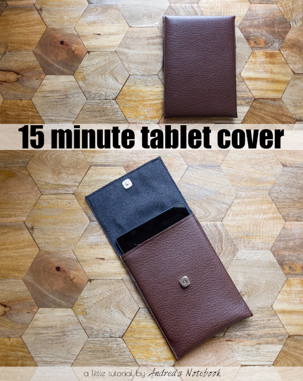 DIY Gifts for Dad - Simple Leather Tablet Case - Best Craft Projects and Gift Ideas You Can Make for Your Father - Last Minute Presents for Birthday and Christmas - Creative Photo Projects, Gift Card Holders, Gift Baskets and Thoughtful Things to Give Fathers and Dads #diygifts #dad #dadgifts #fathersday