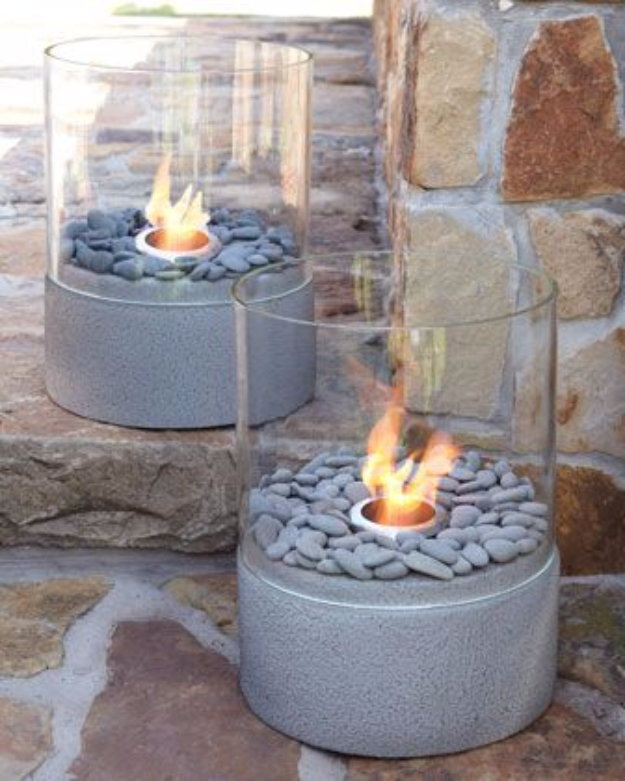 DIY Fireplace Ideas - Small Outdoor Firepit - Do It Yourself Firepit Projects and Fireplaces for Your Yard, Patio, Porch and Home. Outdoor Fire Pit Tutorials for Backyard with Easy Step by Step Tutorials - Cool DIY Projects for Men and Women http://diyjoy.com/diy-fireplace-ideas