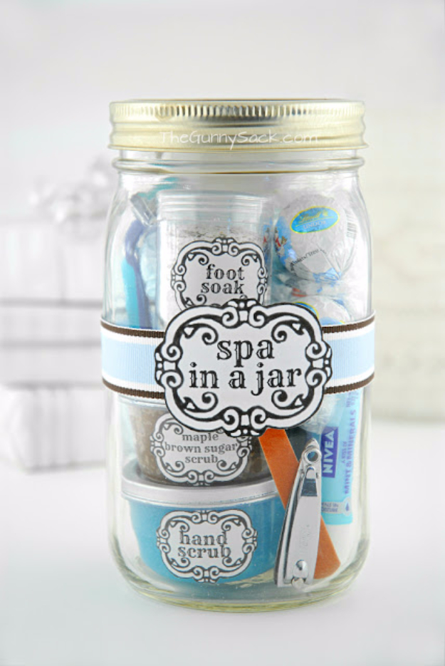 Best DIY Gifts for Girls - Spa In A Jar - Cute Crafts and DIY Projects that Make Cool DYI Gift Ideas for Young and Older Girls, Teens and Teenagers - Awesome Room and Home Decor for Bedroom, Fashion, Jewelry and Hair Accessories - Cheap Craft Projects To Make For a Girl -DIY Christmas Presents for Tweens #diygifts #girlsgifts