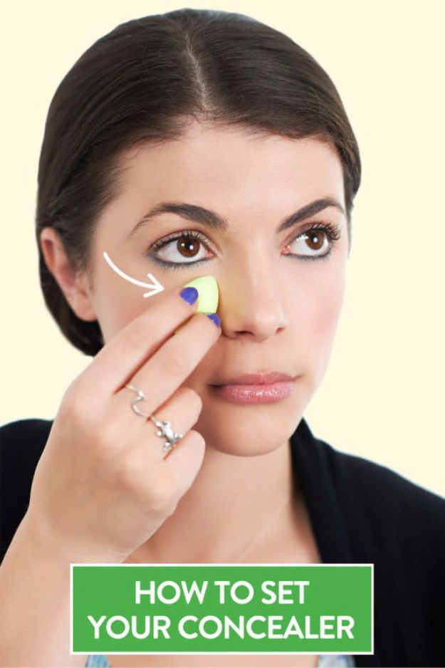 DIY Beauty Hacks - Stop Under Eye Concealer Creasing - Cool Tips for Makeup, Hair and Nails - Step by Step Tutorials for Fixing Broken Makeup, Eye Shadow, Mascara, Foundation - Quick Beauty Ideas for Best Looks in A Hurry #beautyhacks #makeup