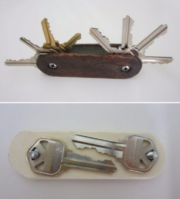 DIY Gifts for Dad - Swiss Army Key Ring - Best Craft Projects and Gift Ideas You Can Make for Your Father - Last Minute Presents for Birthday and Christmas - Creative Photo Projects, Gift Card Holders, Gift Baskets and Thoughtful Things to Give Fathers and Dads #diygifts #dad #dadgifts #fathersday