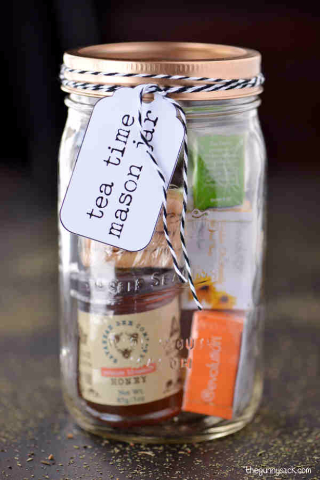 Best DIY Gifts in Mason Jars - Tea Time Mason Jar Gifts - Cute Mason Jar Crafts and Recipe Ideas that Make Great DIY Christmas Presents for Friends and Family - Gifts for Her, Him, Mom and Dad - Gifts in A Jar #diygifts #christmas