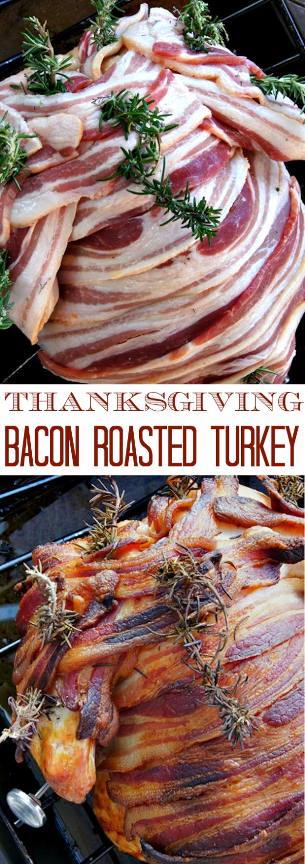 Best Thanksgiving Dinner Recipes - Thanksgiving Bacon Roasted Turkey - Easy DIY Desserts, Sides, Sauces, Main Courses, Vegetables, Pie and Side Dishes. Simple Gravy, Cranberries, Turkey and Pies With Step by Step Tutorials