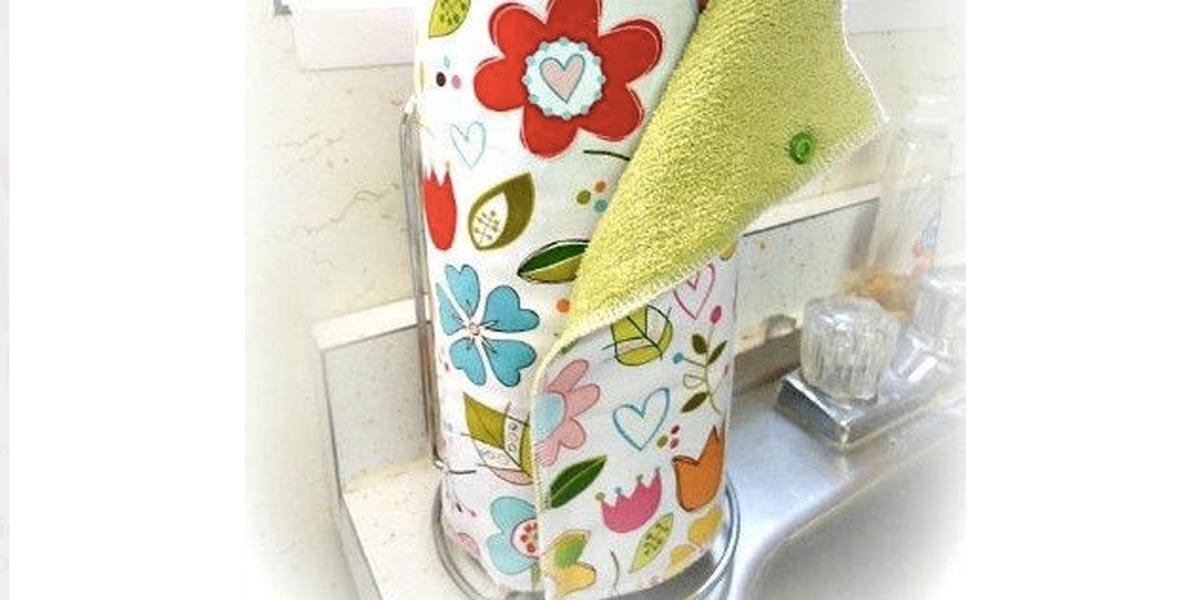 Sewing Tutorial Reusable Paper Towels
