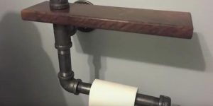 He Makes A Stylish Toilet Paper Holder With A Chic Industrial Look (Watch!)