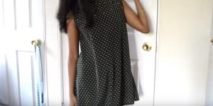She Makes A Super Cute Trapeze Dress That Is So Simple!