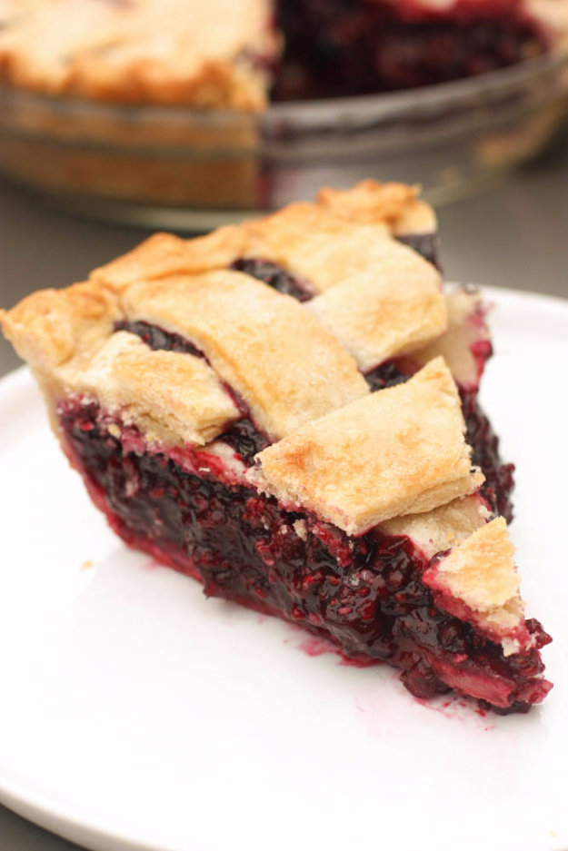 Best Pie Recipes - Triple Berry Pie - Easy Pie Recipes From Scratch for Pecan, Apple, Banana, Pumpkin, Fruit, Peach and Chocolate Pies. Yummy Graham Cracker Crusts and Homemade Meringue - Thanksgiving and Christmas Pies and Mason Jar Pie Recipes http://diyjoy.com/best-pie-recipes
