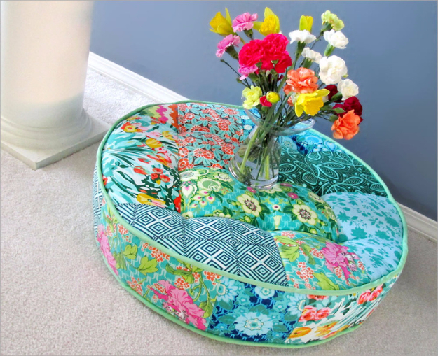 DIY Gifts To Sew For Friends - Tufted Round Patchwork Floor Cushion - Quick and Easy Sewing Projects and Free Patterns for Best Gift Ideas and Presents - Creative Step by Step Tutorials for Beginners - Cute Home Decor, Accessories, Kitchen Crafts and DIY Fashion Ideas #diy #crafts #sewingDIY Gifts To Sew For Friends - projectnamehere - Quick and Easy Sewing Projects and Free Patterns for Best Gift Ideas and Presents - Creative Step by Step Tutorials for Beginners - Cute Home Decor, Accessories, Kitchen Crafts and DIY Fashion Ideas #diy #crafts #sewing