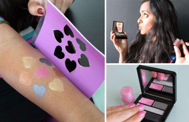 DIY Beauty Hacks - Turn Your Eyeshadow Into Lip Gloss - Cool Tips for Makeup, Hair and Nails - Step by Step Tutorials for Fixing Broken Makeup, Eye Shadow, Mascara, Foundation - Quick Beauty Ideas for Best Looks in A Hurry #beautyhacks #makeup