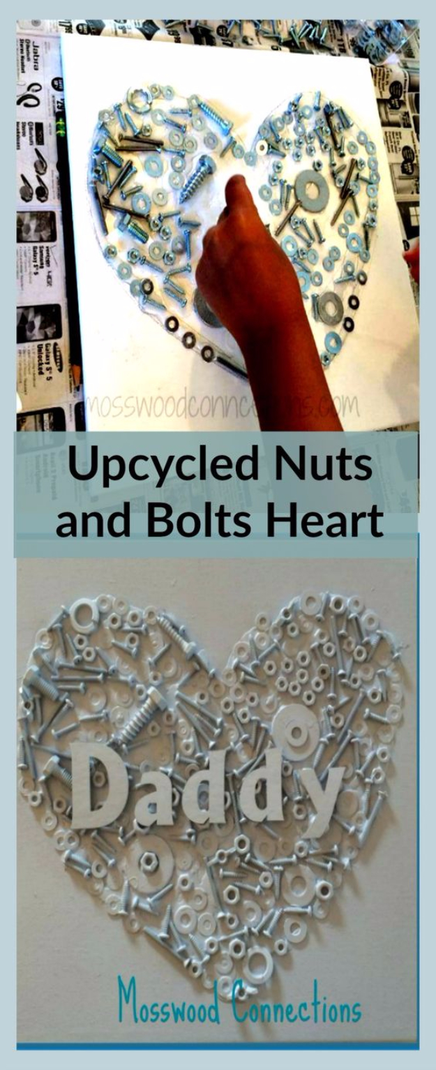 DIY Gifts for Dad - Upcycled Nuts And Bolts Craft - Best Craft Projects and Gift Ideas You Can Make for Your Father - Last Minute Presents for Birthday and Christmas - Creative Photo Projects, Gift Card Holders, Gift Baskets and Thoughtful Things to Give Fathers and Dads #diygifts #dad #dadgifts #fathersday