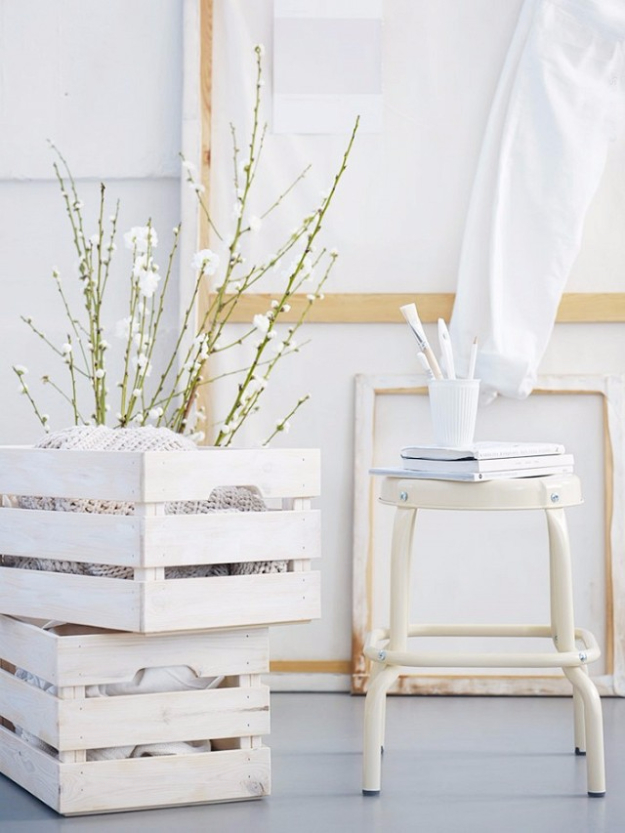 Best IKEA Hacks and DIY Hack Ideas for Furniture Projects and Home Decor from IKEA - Whitewashed Crate Display - Creative IKEA Hack Tutorials for DIY Platform Bed, Desk, Vanity, Dresser, Coffee Table, Storage and Kitchen, Bedroom and Bathroom Decor #ikeahacks #diy