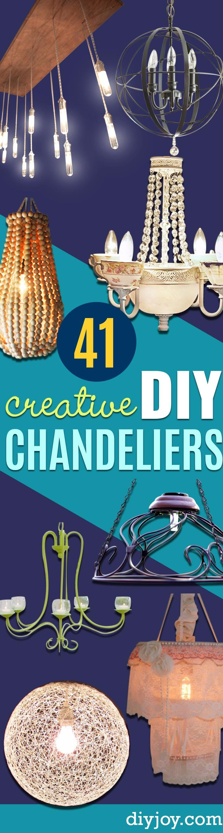 DIY Chandelier Ideas and Project Tutorials - Easy Makeover Tips, Rustic Pipe, Crystal, Rustic, Mason Jar, Beads. Bedroom, Outdoor and Wedding Girls Room Lighting Ideas With Step by Step Instructions