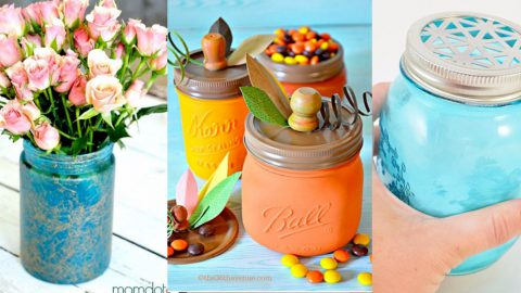 31 Mason Jar Crafts You Can Make In Under an Hour | DIY Joy Projects and Crafts Ideas