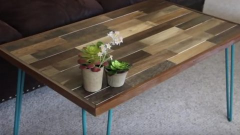 He Makes This Remarkable Pallet Coffee Table With a Brilliant Pop Of Color…   DIY Joy Projects and Crafts Ideas