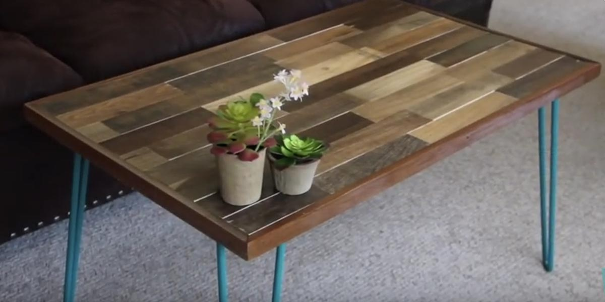 he makes this remarkable pallet coffee table with a