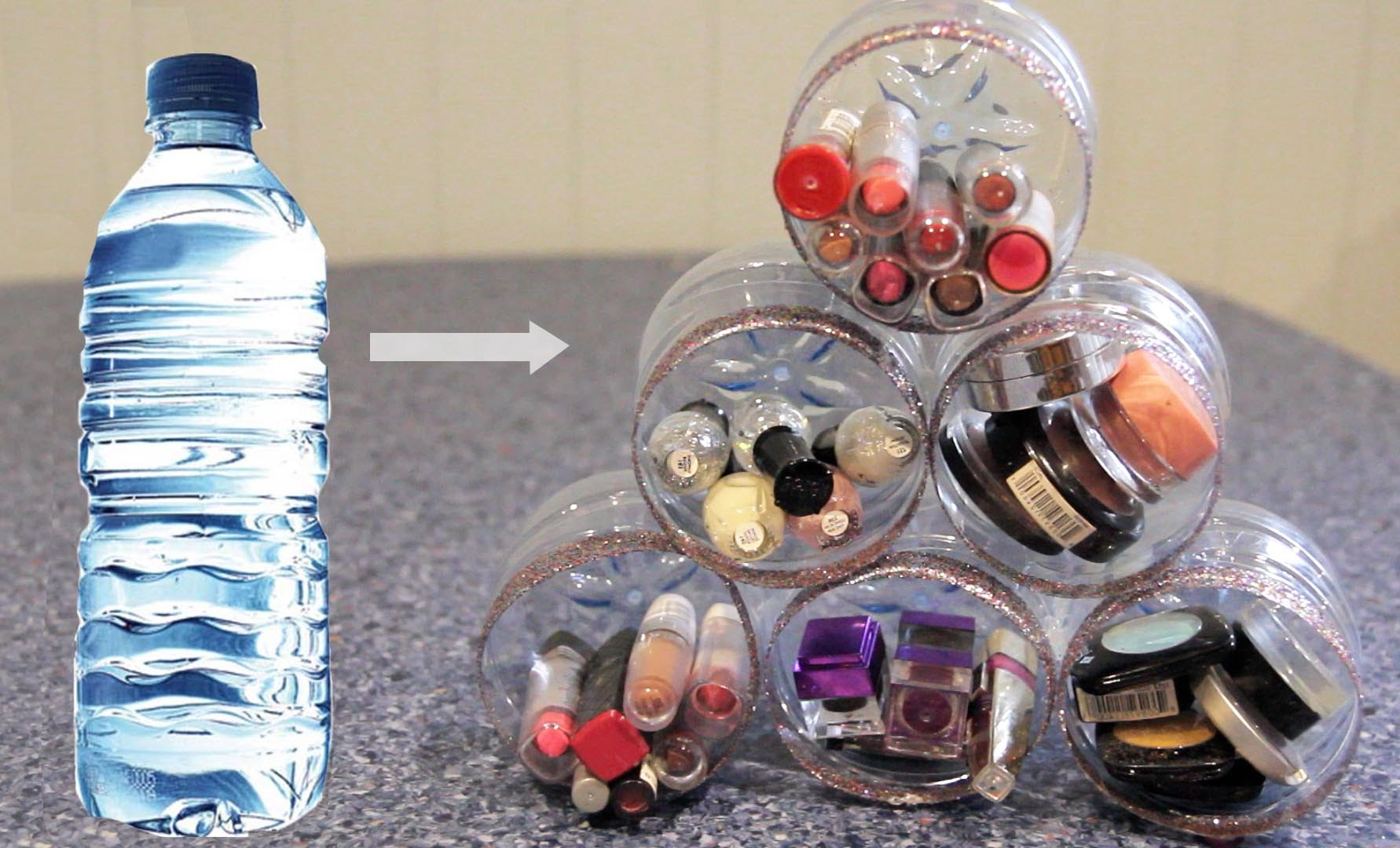 Cool DIY Projects Made With Plastic Bottles - She Recycles Bottles For A Brilliant Organizing Purpose (Easy!) - Best Easy Crafts and DIY Ideas Made With A Recycled Plastic Bottle - Jewlery, Home Decor, Planters, Craft Project Tutorials - Cheap Ways to Decorate and Creative DIY Gifts for Christmas Holidays - Fun Projects for Adults, Teens and Kids