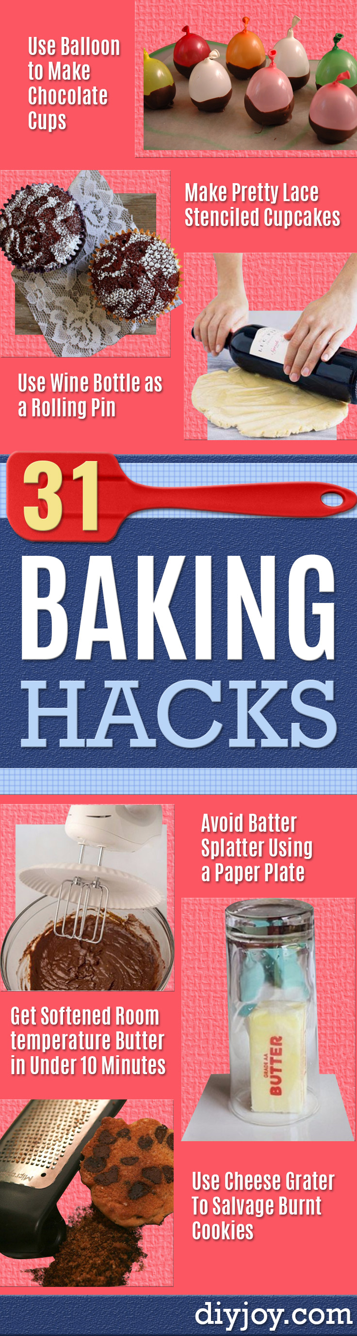 Best Baking Hacks - DIY Cooking Tips and Tricks for Baking Recipes - Quick Ways to Bake Cake, Cupcakes, Desserts and Cookies - Kitchen Lifehacks for Bakers