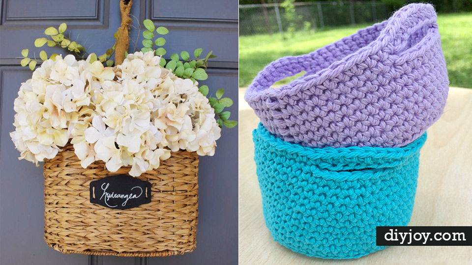 Creative Crafts Made With Baskets Diy Storage And Organizing Ideas