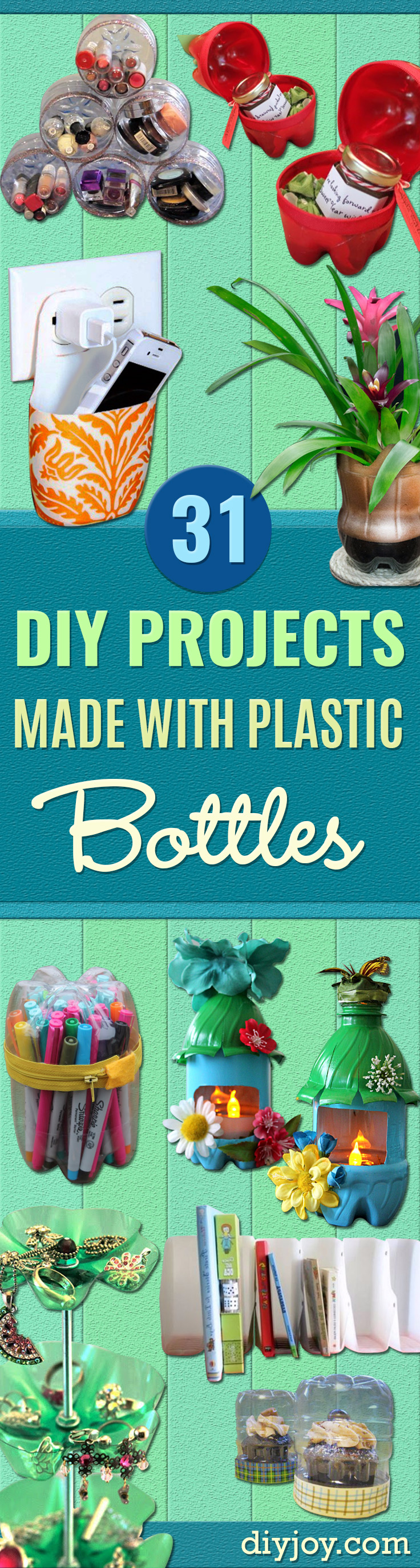 Cool DIY Projects Made With Plastic Bottles - Best Easy Crafts and DIY Ideas Made With A Recycled Plastic Bottle - Jewlery, Home Decor, Planters, Craft Project Tutorials - Cheap Ways to Decorate and Creative DIY Gifts for Christmas Holidays - Fun Projects for Adults, Teens and Kids