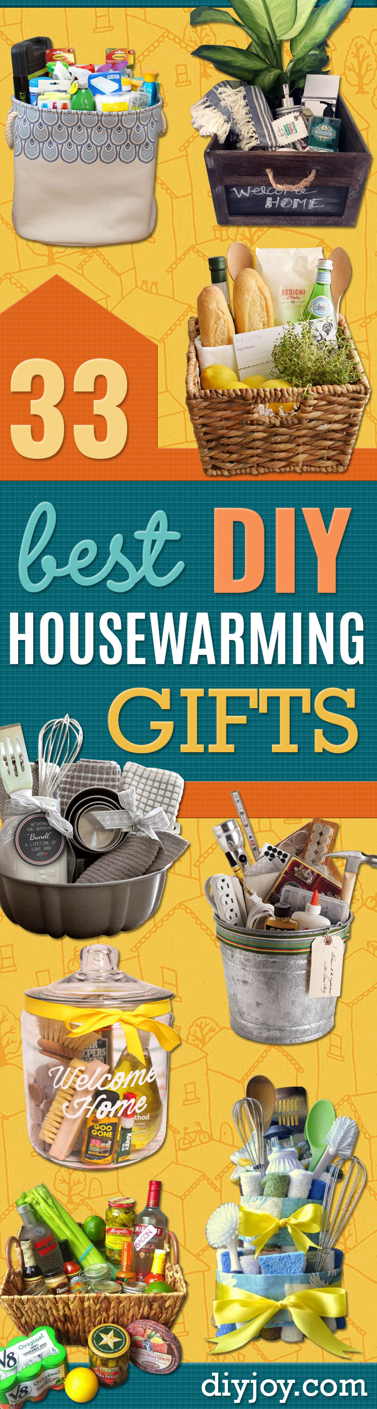 DIY Housewarming Gifts - Best Do It Yourself Gift Ideas for Friends With A New House, Home or Apartment - Creative, Cheap and Quick Crafts and DIY Ideas for Housewarming Presents - Mason Jar Gifts, Baskets, Gifts for Women and Men