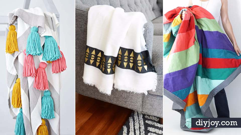 diy blankets and throws how to make easy home decor and warm
