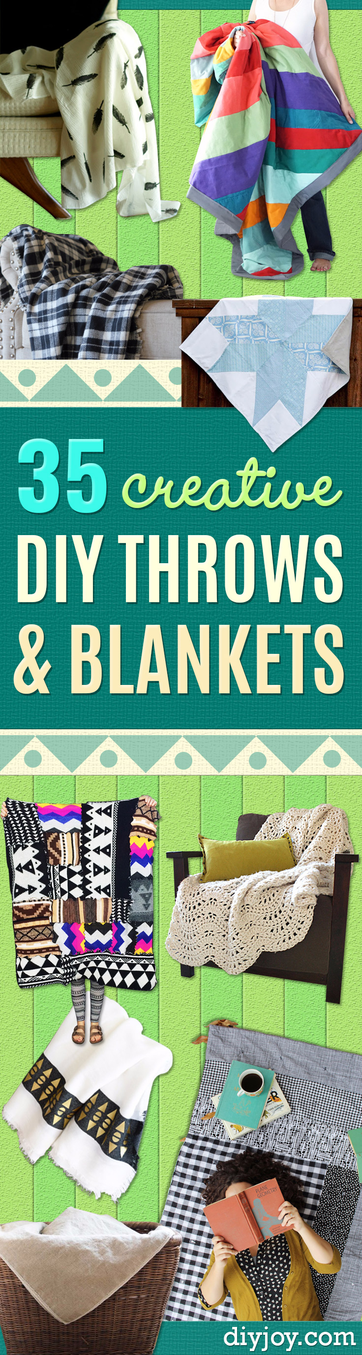 DIY Blankets and Throws - How To Make Easy Home Decor and Warm Covers for Women, Kids, Teens and Adults - Fleece, Knit, No Sew and Easy Projects to Make for Bed and Sofa