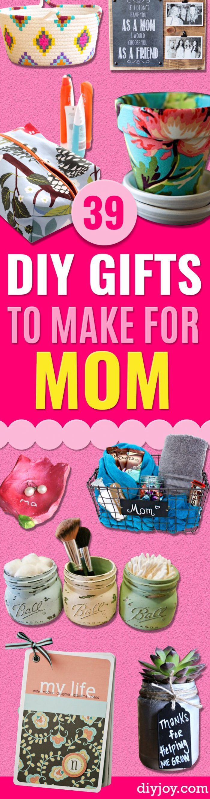 DIY Gifts for Mom - Handmade Gifts for Her- Crafts for Women to DYI #diygifts #christmasgifts
