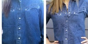 She Shows Us How To Alter A Men's Shirt To A Woman's Shape And It's So Easy!