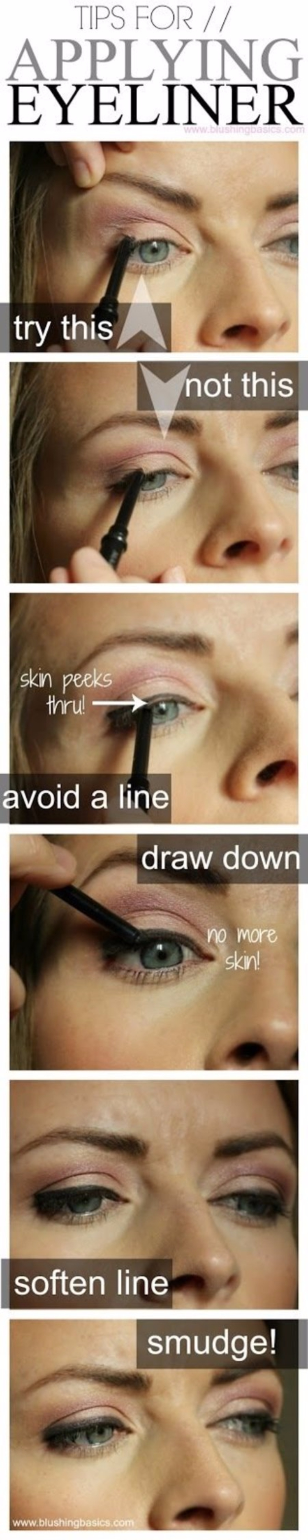 Cool DIY Makeup Hacks for Quick and Easy Beauty Ideas - Apply Eyeliner The Right Way - How To Fix Broken Makeup, Tips and Tricks for Mascara and Eye Liner, Lipstick and Foundation Tutorials - Fast Do It Yourself Beauty Projects for Women