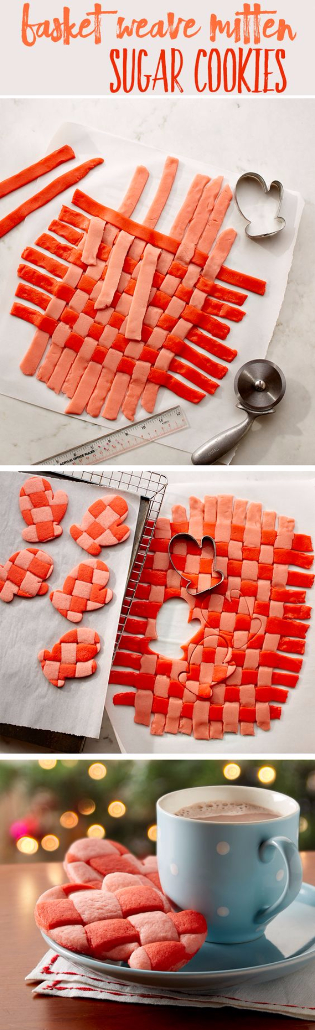 Best Recipes for Christmas Cookies- Basket Weave Mitten Sugar Cookies - Easy Decorated Holiday Cookies - Candy Cookie Recipes Ideas for Kids - Traditional Favorites and Gluten Free and Healthy Versions - Quick No Bake Cookies and Last Minute Desserts for the Holidays