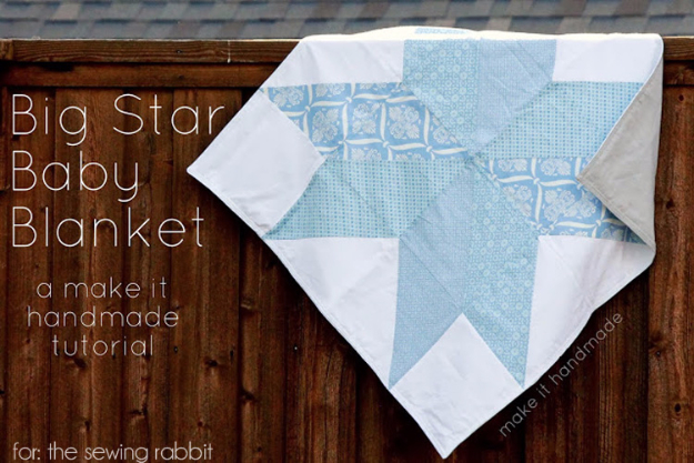DIY Blankets and Throws - Big Star Baby Blanket - How To Make Easy Home Decor and Warm Covers for Women, Kids, Teens and Adults - Fleece, Knit, No Sew and Easy Projects to Make for Bed and Sofa - Creative Blanket Sewing Projects and Crafts http://diyjoy.com/diy-blankets-throws