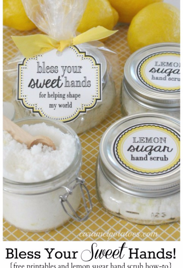 DIY Teacher Gifts - Bless Your Sweet Hands Teacher Gift - Cheap and Easy Presents and DIY Gift Ideas for Teachers at Christmas, End of Year, First Day and Birthday - Teacher Appreciation Gifts and Crafts - Cute Mason Jar Ideas and Thoughtful, Unique Gifts from Kids http://diyjoy.com/diy-teacher-gifts