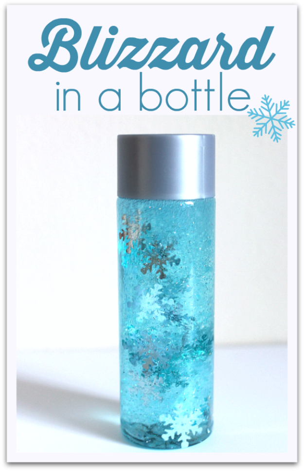 Best DIY Snowflake Decorations, Ornaments and Crafts - Blizzard In A Bottle - Paper Crafts with Snowflakes, Pipe Cleaner Projects, Mason Jars and Dollar Store Ideas - Easy DIY Ideas to Decorate for Winter#winter #crafts #diy